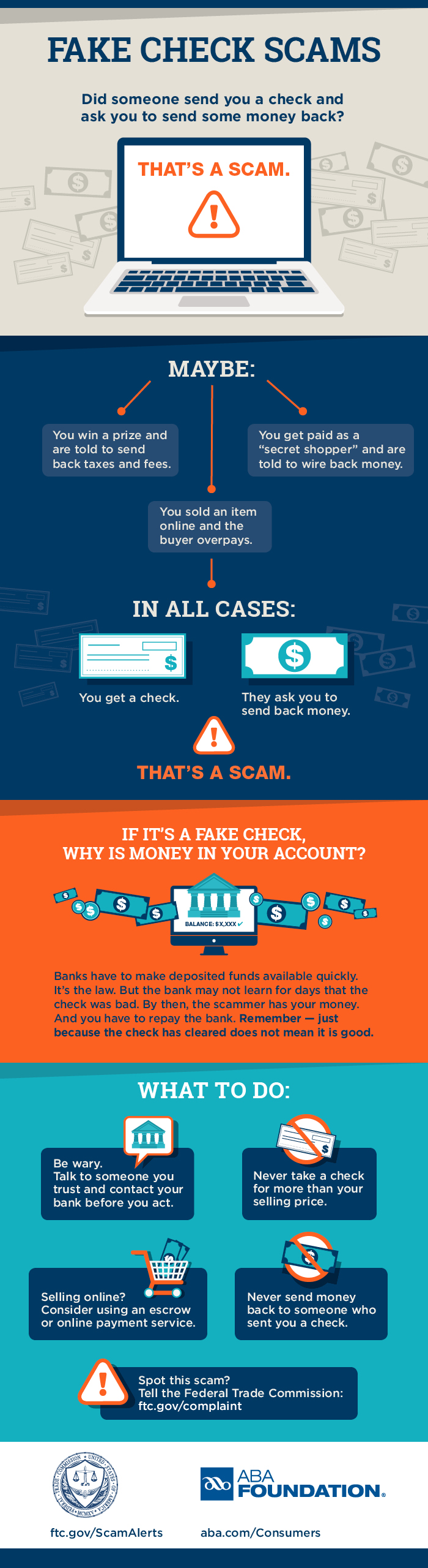 Fake Check Scam Infographic